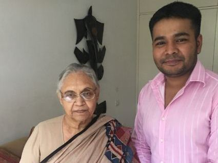 Anurag Sason with Sheila Dikshit (File)