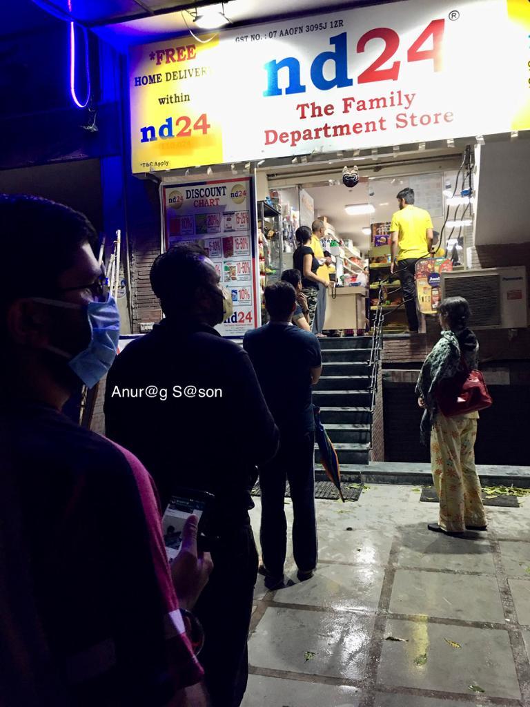 Coronavirus, Delhi, Anurag Sason, departmental store,