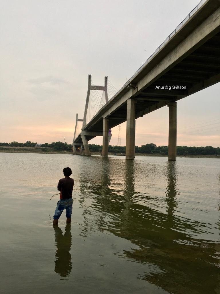 fishing, ganga, Anurag Sason
